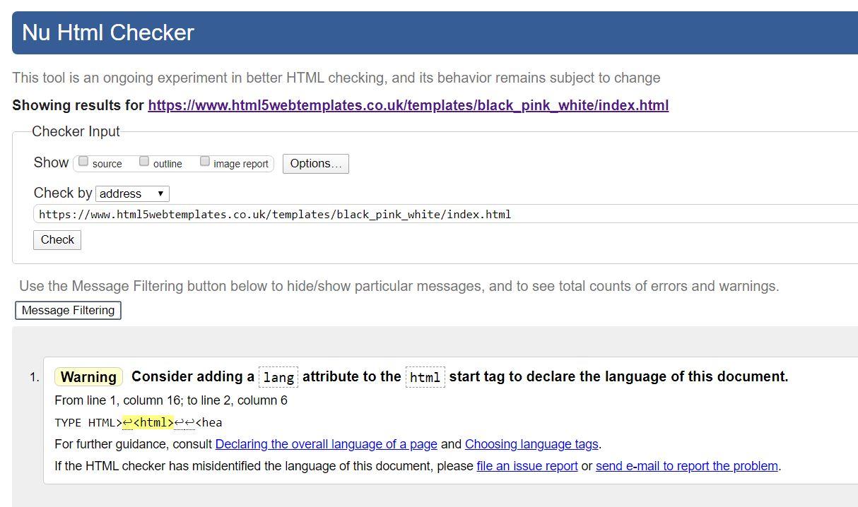 Validating html high school dating