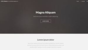 Simple html webpage template